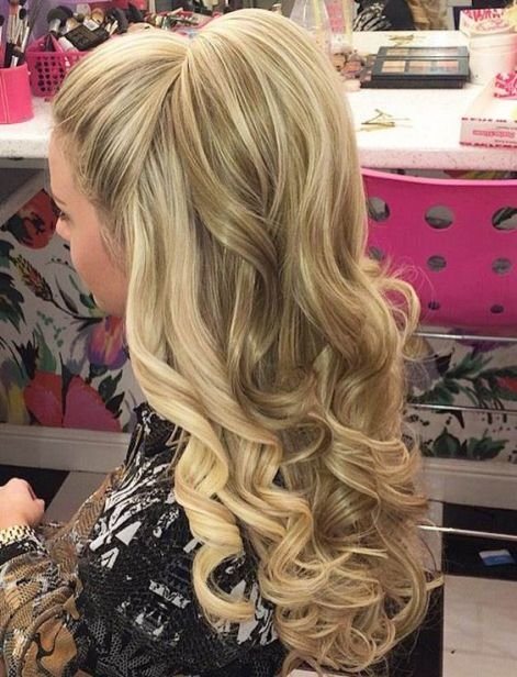 Free 50 Gorgeous Prom Hairstyles For Long Hair Society19 Wallpaper