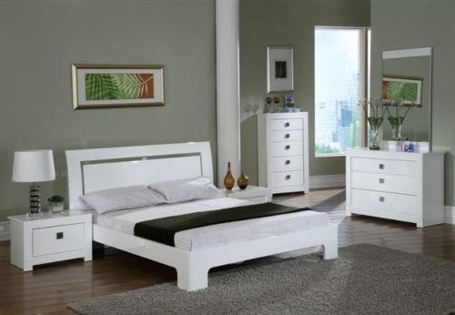 Best White Gloss Bedroom Keens Furniture With Pictures