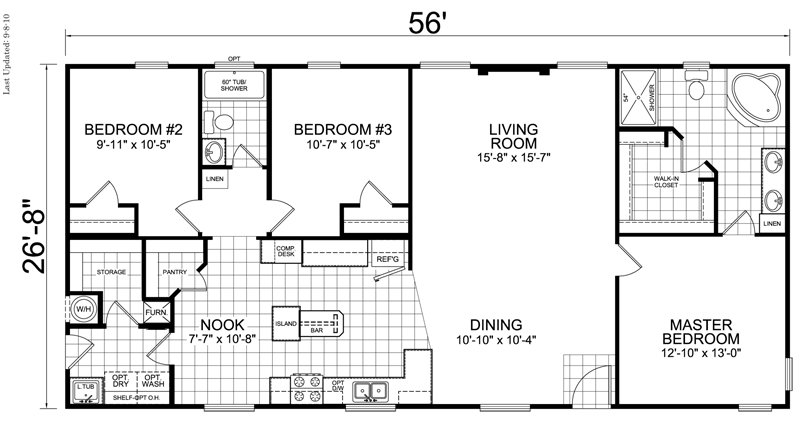 Best Home 28 X 56 3 Bed 2 Bath 1493 Sq Ft Little House With Pictures