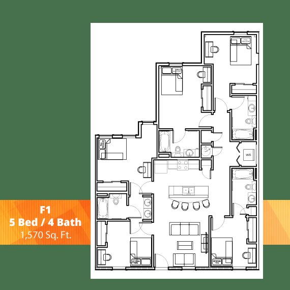 Best 5 Bedroom Student Apartments In Knoxville The Knox With Pictures