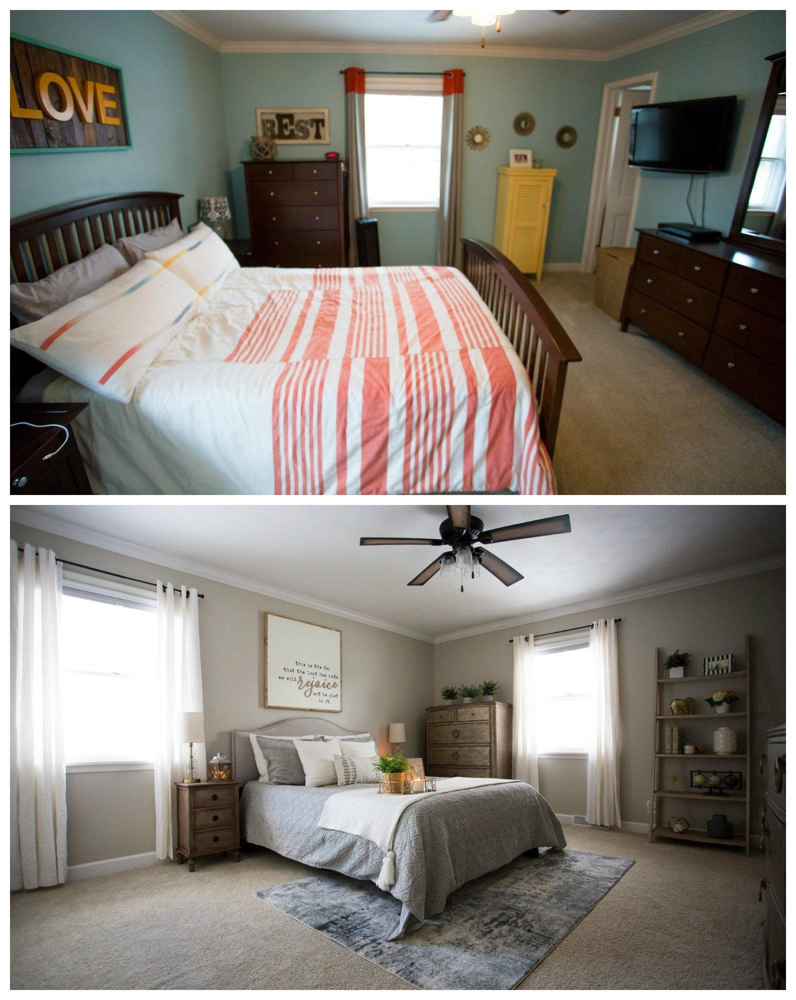 Best Master Bedroom Makeover Before After Living In Yellow With Pictures