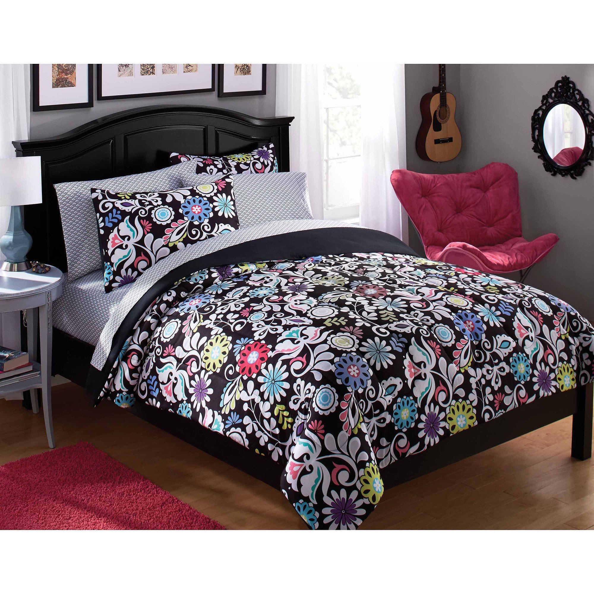Best Mainstays Tribal Black And White Bed In A Bag Bedding Set With Pictures