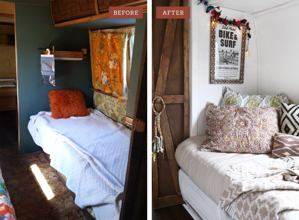 Best Airstream Twin Bedroom Remodel Part 1 Before After With Pictures