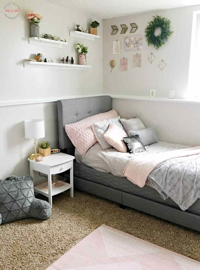 Best How To Diy A Blush And Gray Girls Bedroom Makeover Must With Pictures
