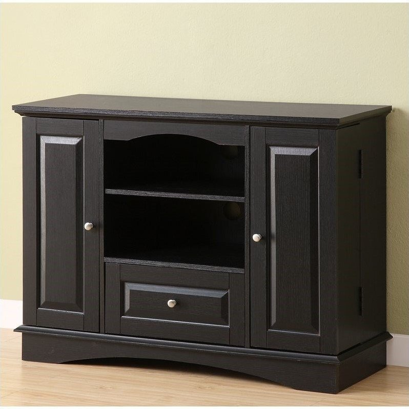 Best Walker Edison 42 Bedroom Tv Console In Black With Media With Pictures