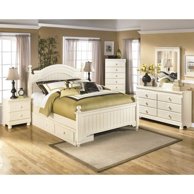 Best Ashley Cottage Retreat 6 Piece Wood Drawer Bedroom Set In With Pictures