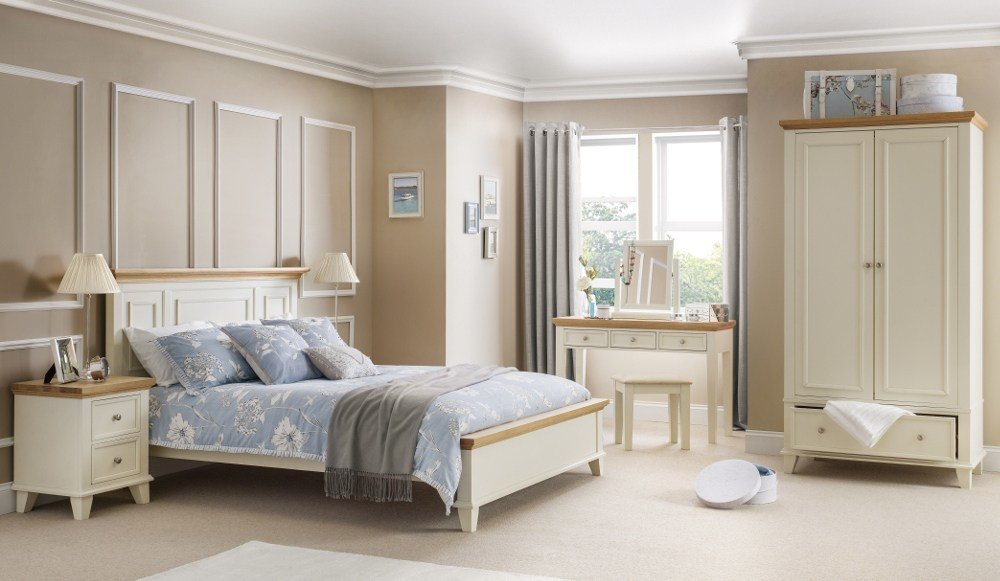 Best Portland Stone White And Oak Wooden Bedroom Furniture With Pictures