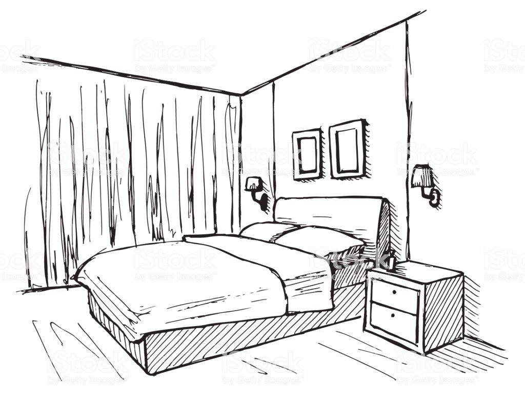 Best Hand Drawn Sketch Linear Sketch Of An Interior Sketch Line With Pictures
