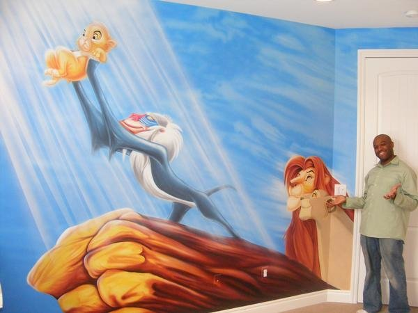 Best Lionking Mural For Babyroom By Dokimion On Deviantart With Pictures