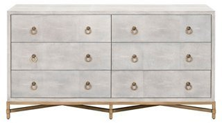 Best Strand Faux Shagreen Dresser White Dressers Dressers With Pictures