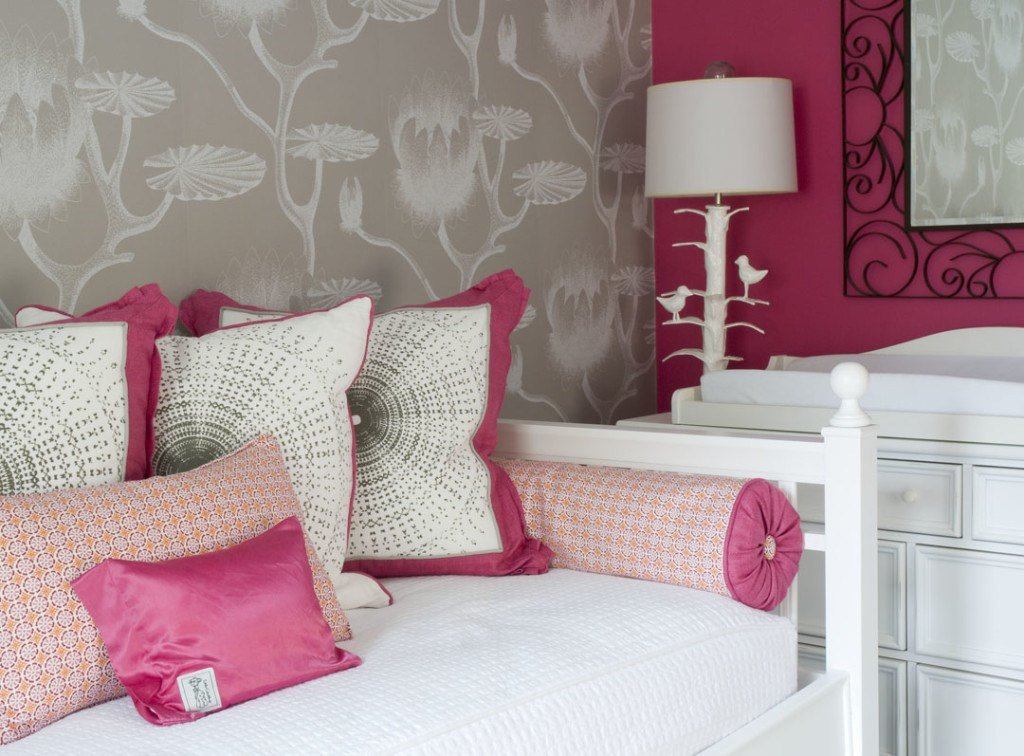 Best Chic Raspberry And Gray Nursery Project Nursery With Pictures