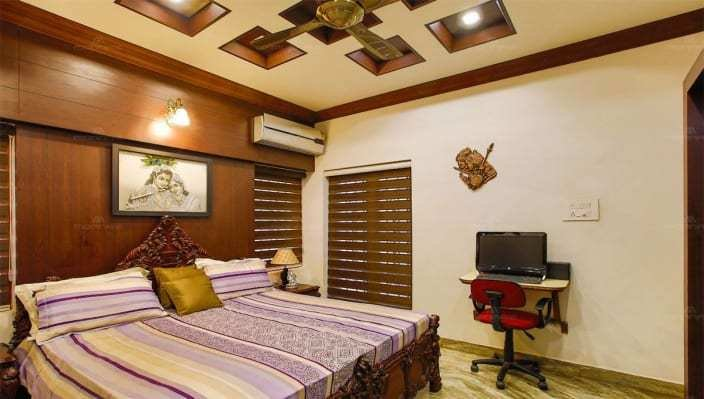Best Master Bedroom With Wooden Bed And Compact Study Table By With Pictures
