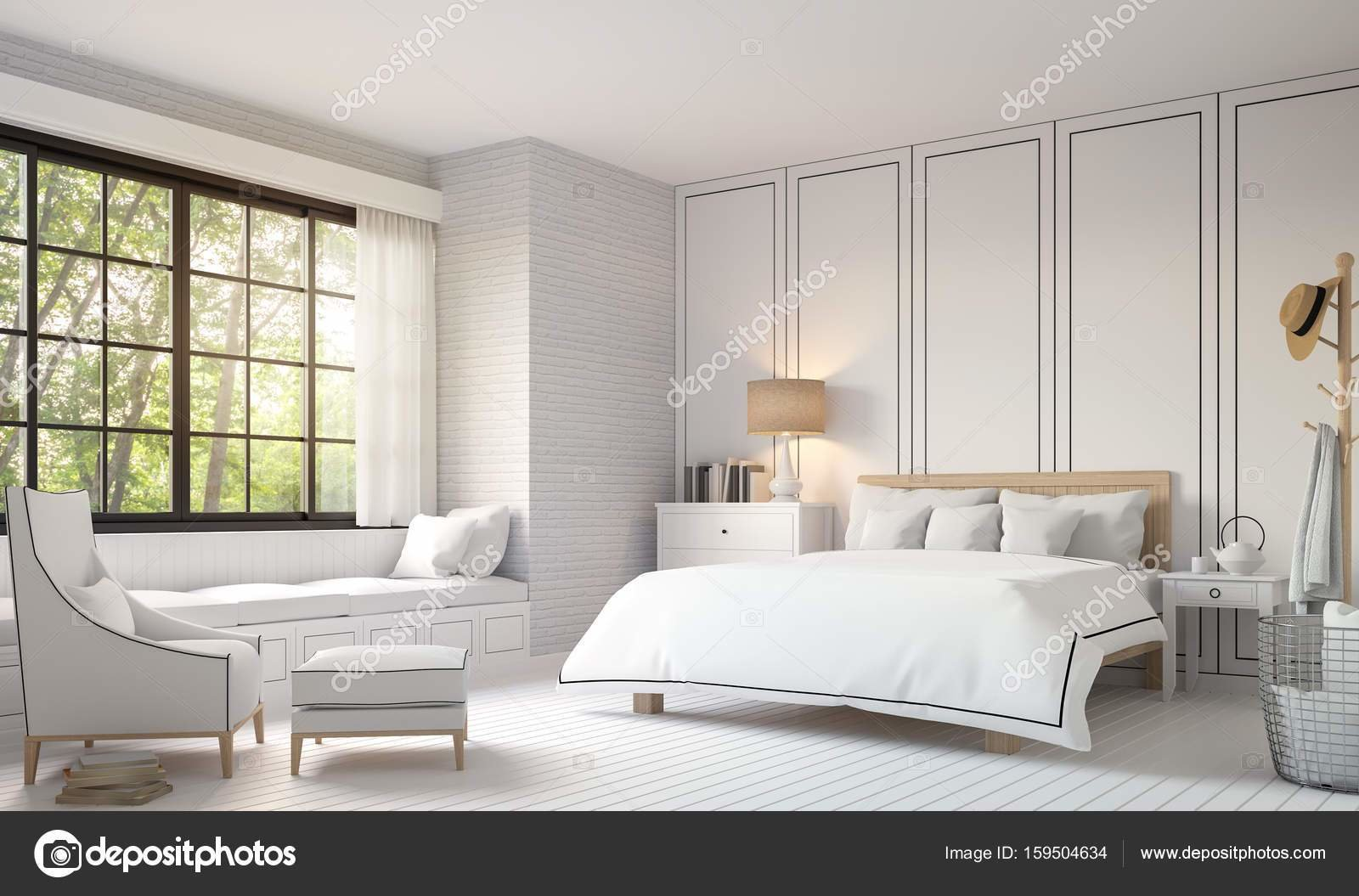 Best Modern Vintage Bedroom With Black And White 3D Rendering With Pictures