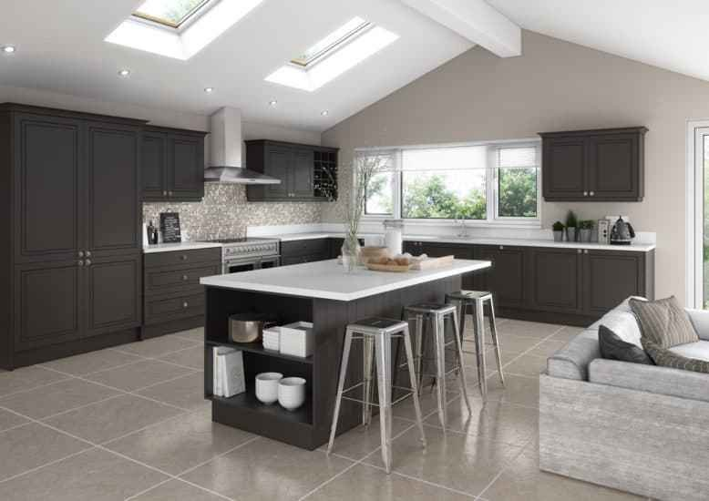 Best Fitted Kitchens Matte Graphite Lisbon Starplan Ni With Pictures