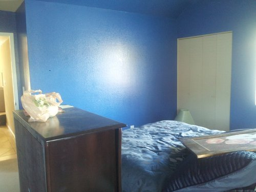 Best Furniture For Semi Gloss Blue Colored Bedroom With Pictures