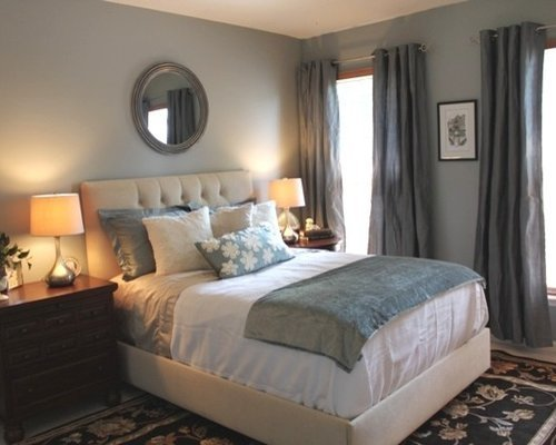 Best Grey Blue Bedroom Houzz With Pictures