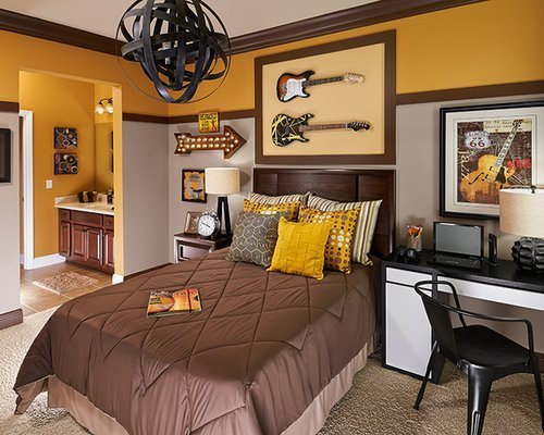 Best Craftsman Guest Bedroom Design Ideas Remodels Photos Houzz With Pictures