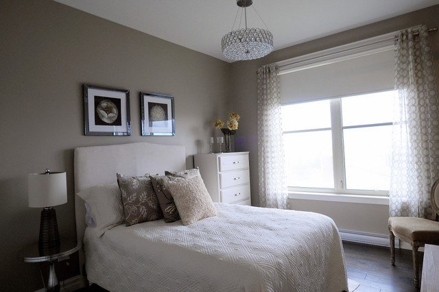 Best Monochromatic Guest Room Contemporary Bedroom Other With Pictures