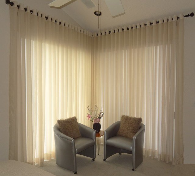 Best Modern Grommet Style Sheer Window Treatment Modern Bedroom Other By Maria J Window With Pictures