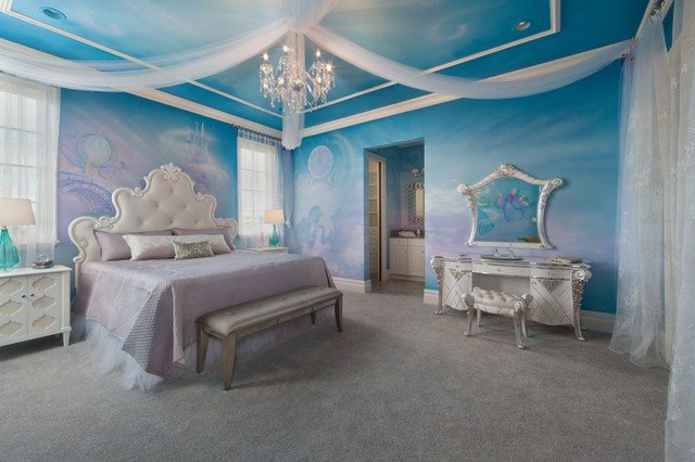 Best Disney Cinderella Theme Room Contemporary Bedroom Orlando By Artisan Incorporated With Pictures