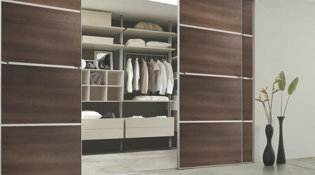 Best Contemporary Walnut Sliding Wardrobe Doors Contemporary With Pictures
