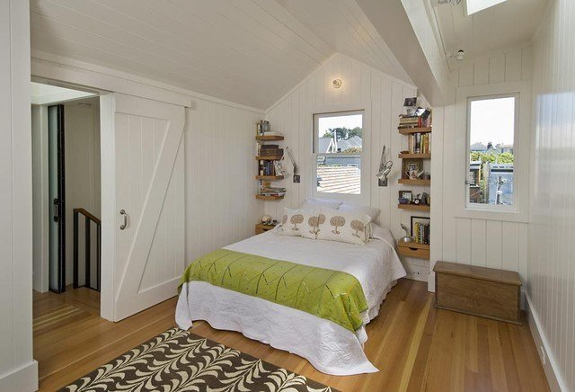Best Bedroom With Sliding Barn Door Contemporary Bedroom With Pictures