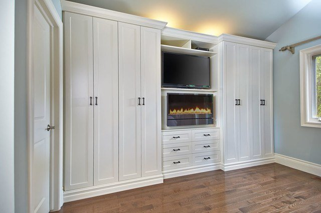Best Antique White Wall Unit Contemporary Toronto By Space Solutions Ca With Pictures