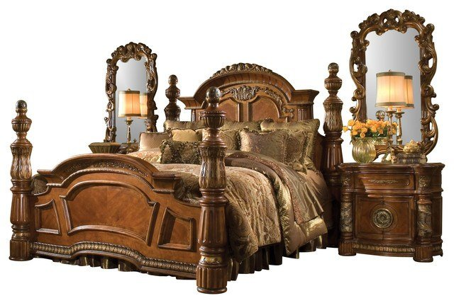 Best 5 Piece Villa Valencia California King Bedroom Set With Pictures