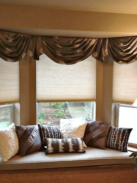 Best Bay Window Valances Traditional Bedroom Seattle By With Pictures