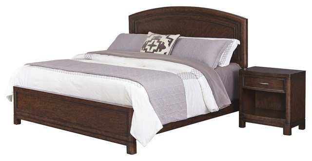 Best Crescent Hill Bed And Nightstand Set Transitional With Pictures