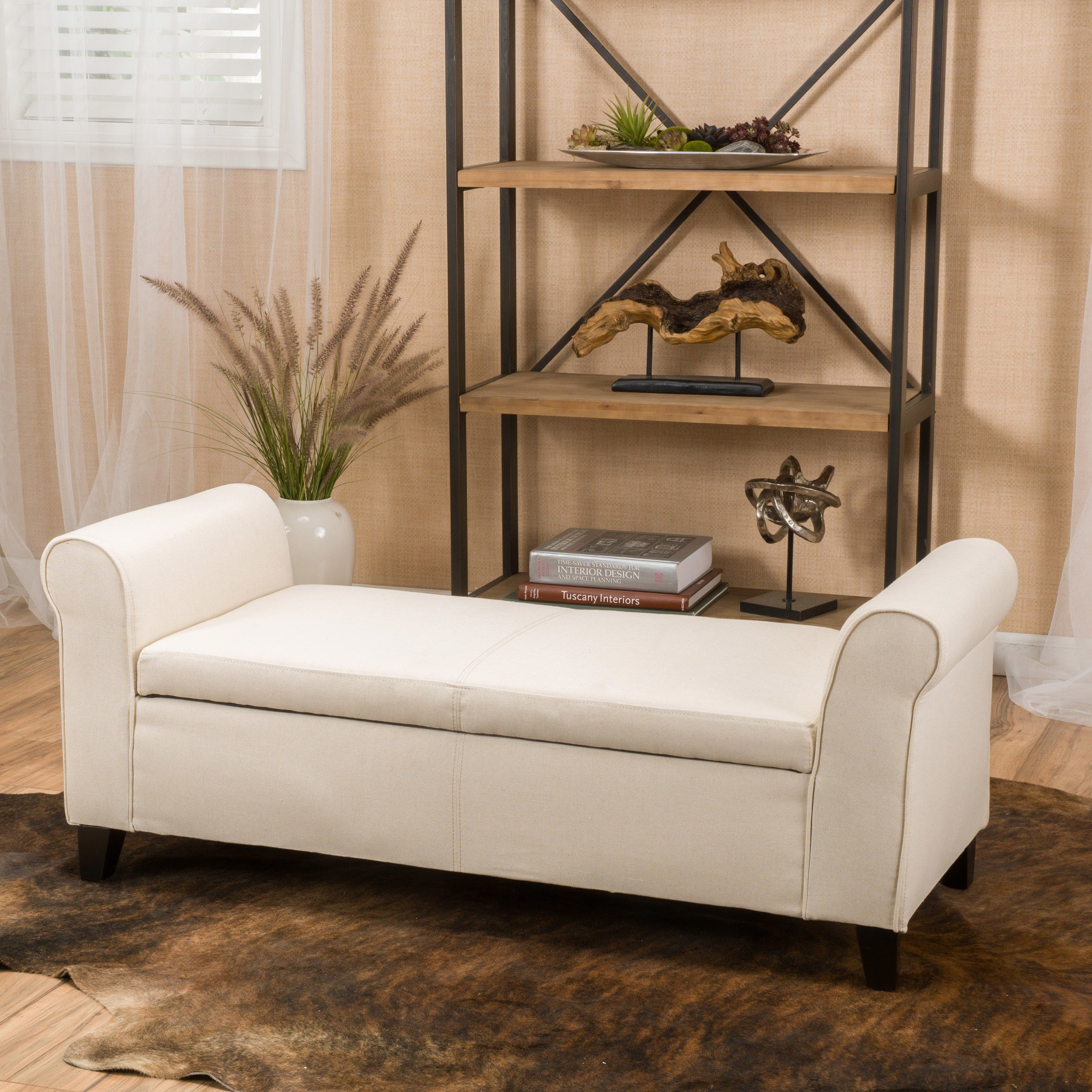 Best Alcott Hill Varian Upholstered Storage Bedroom Bench With Pictures