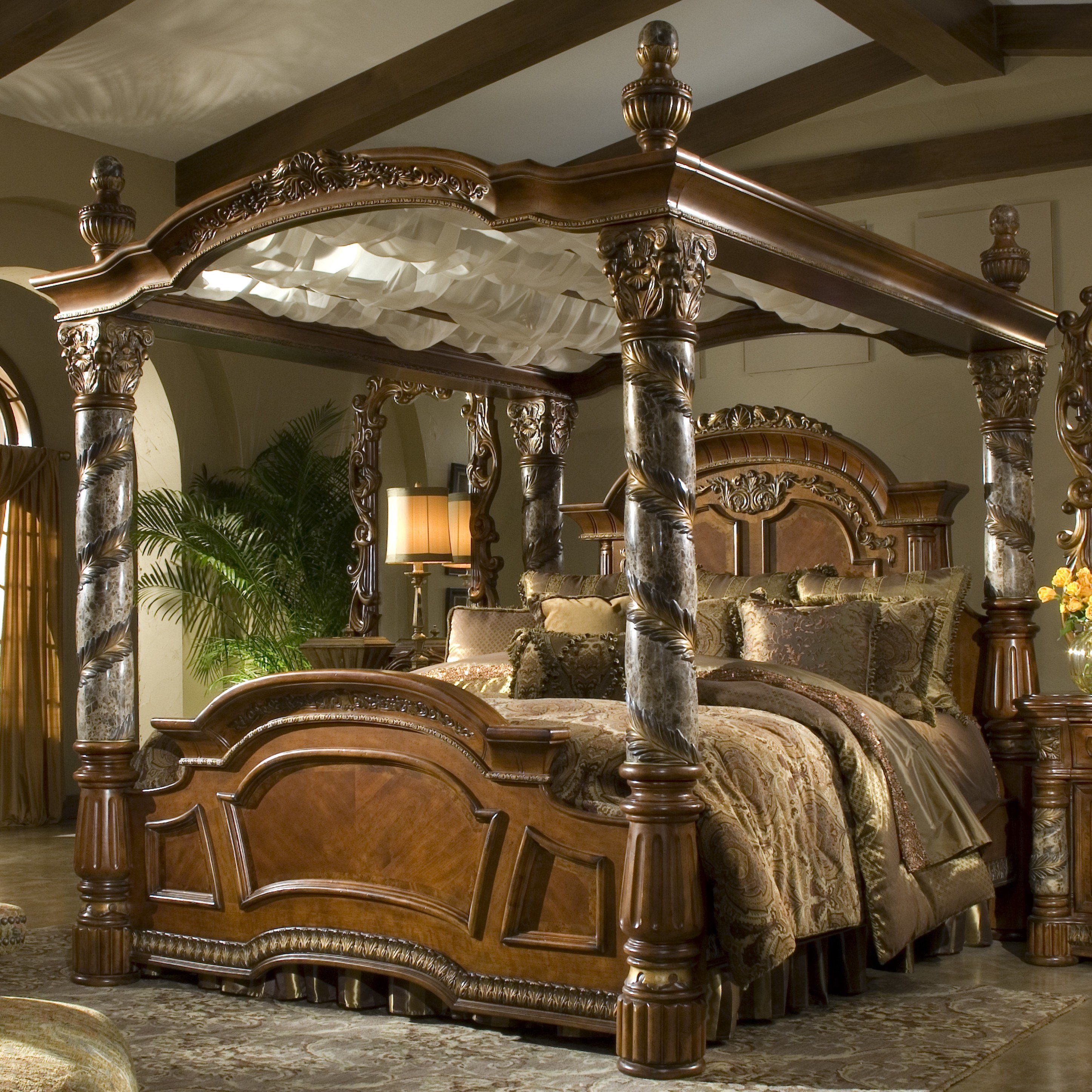 Best Michael Amini Villa Valencia Canopy Customizable Bedroom With Pictures