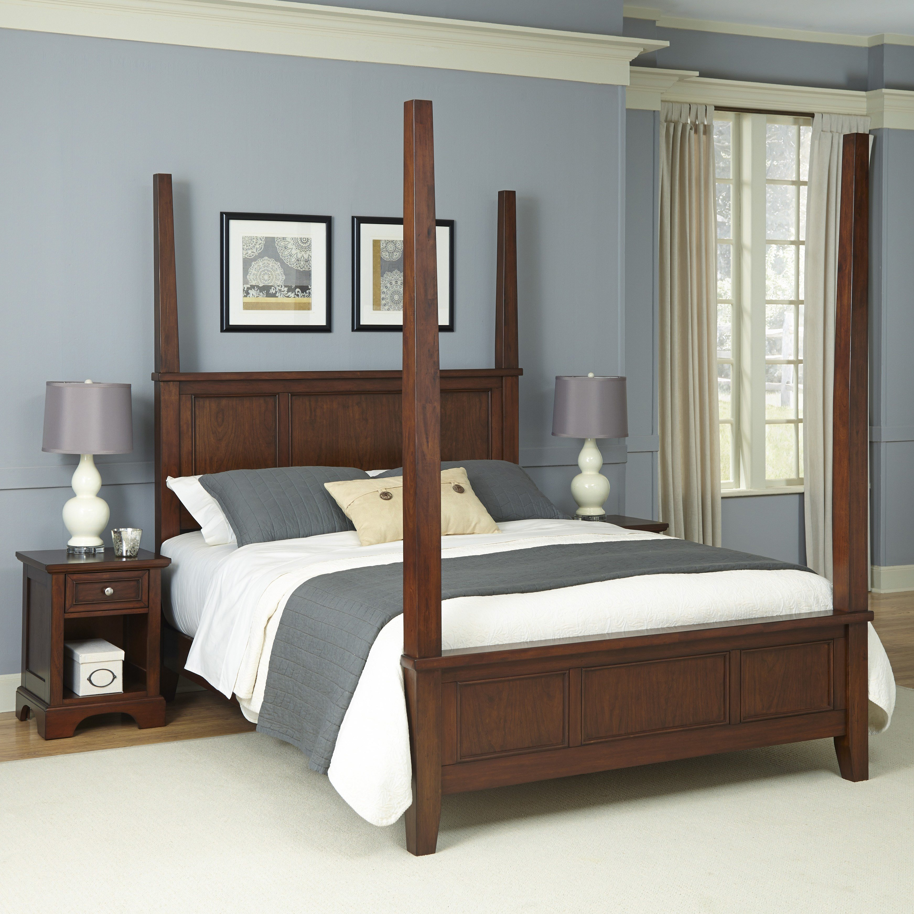 Best Home Styles Chesapeake Four Poster 3 Piece Bedroom Set With Pictures