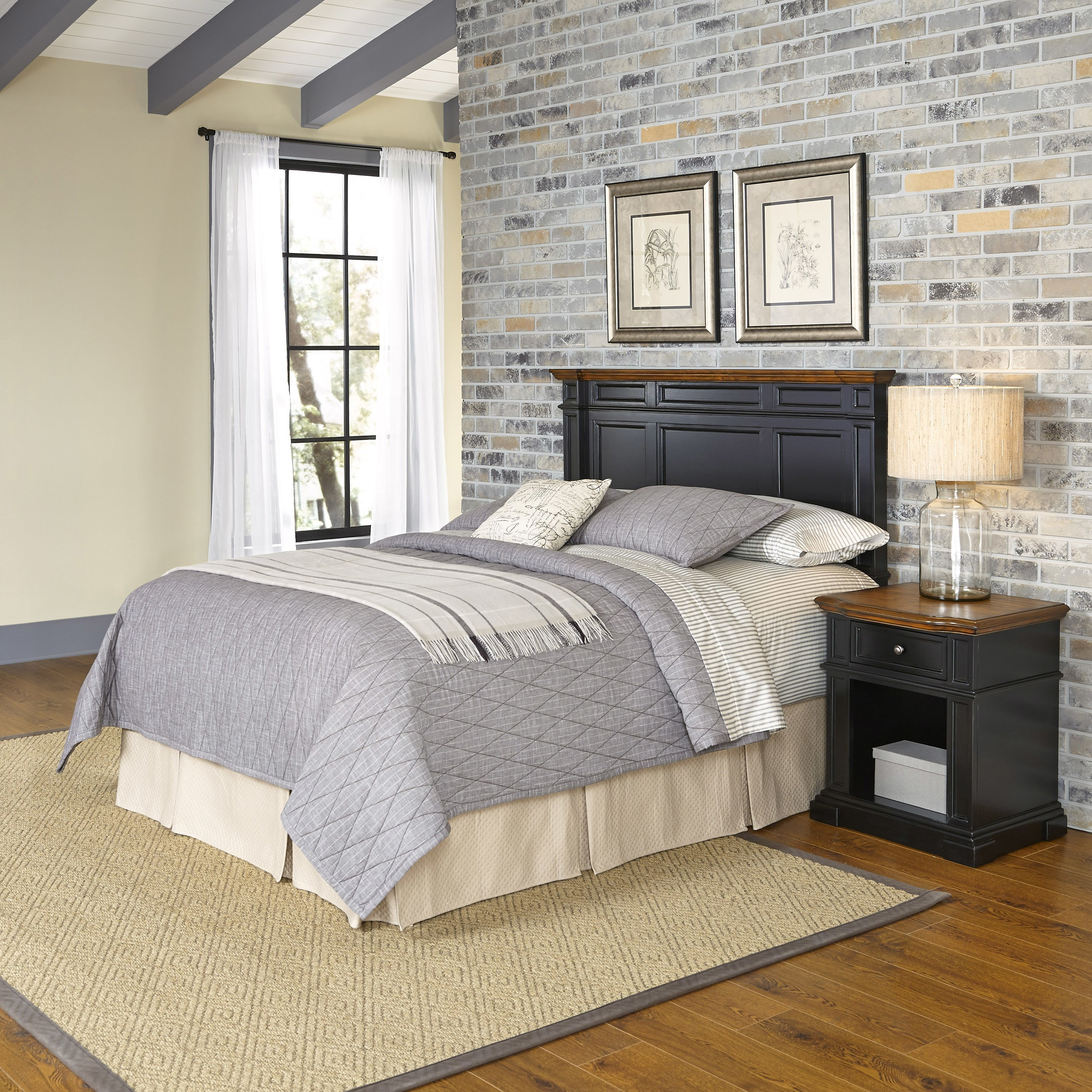 Best Home Styles Americana Platfrom 2 Piece Bedroom Set Reviews Wayfair With Pictures