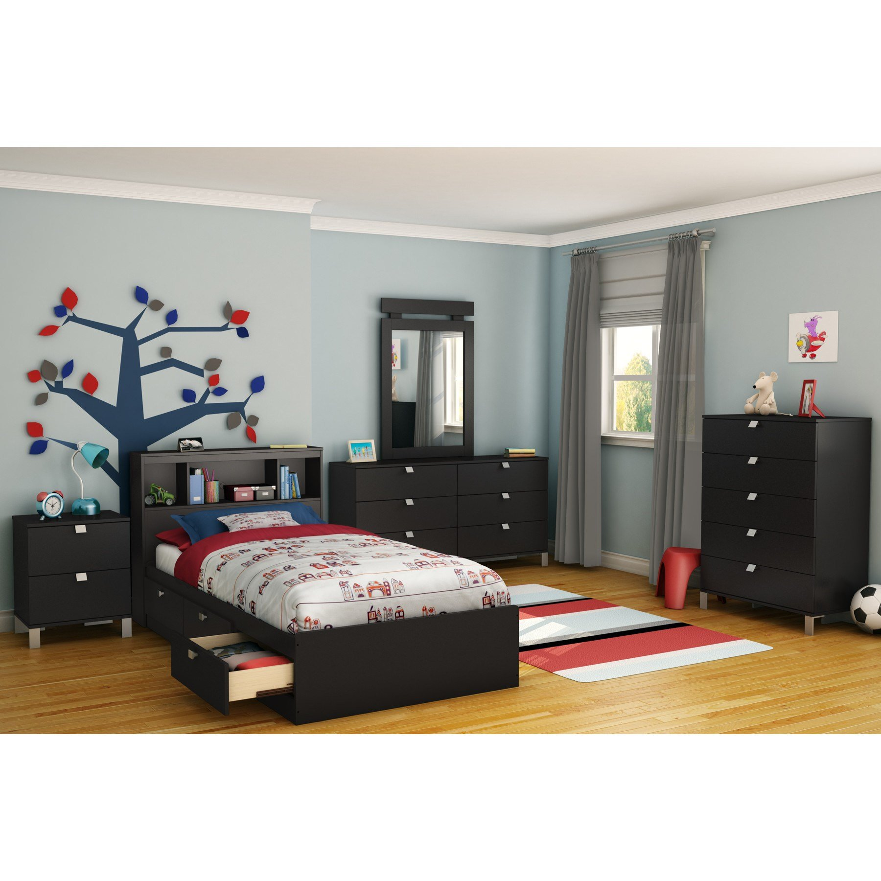 Best South Shore Spark Platform Customizable Bedroom Set With Pictures