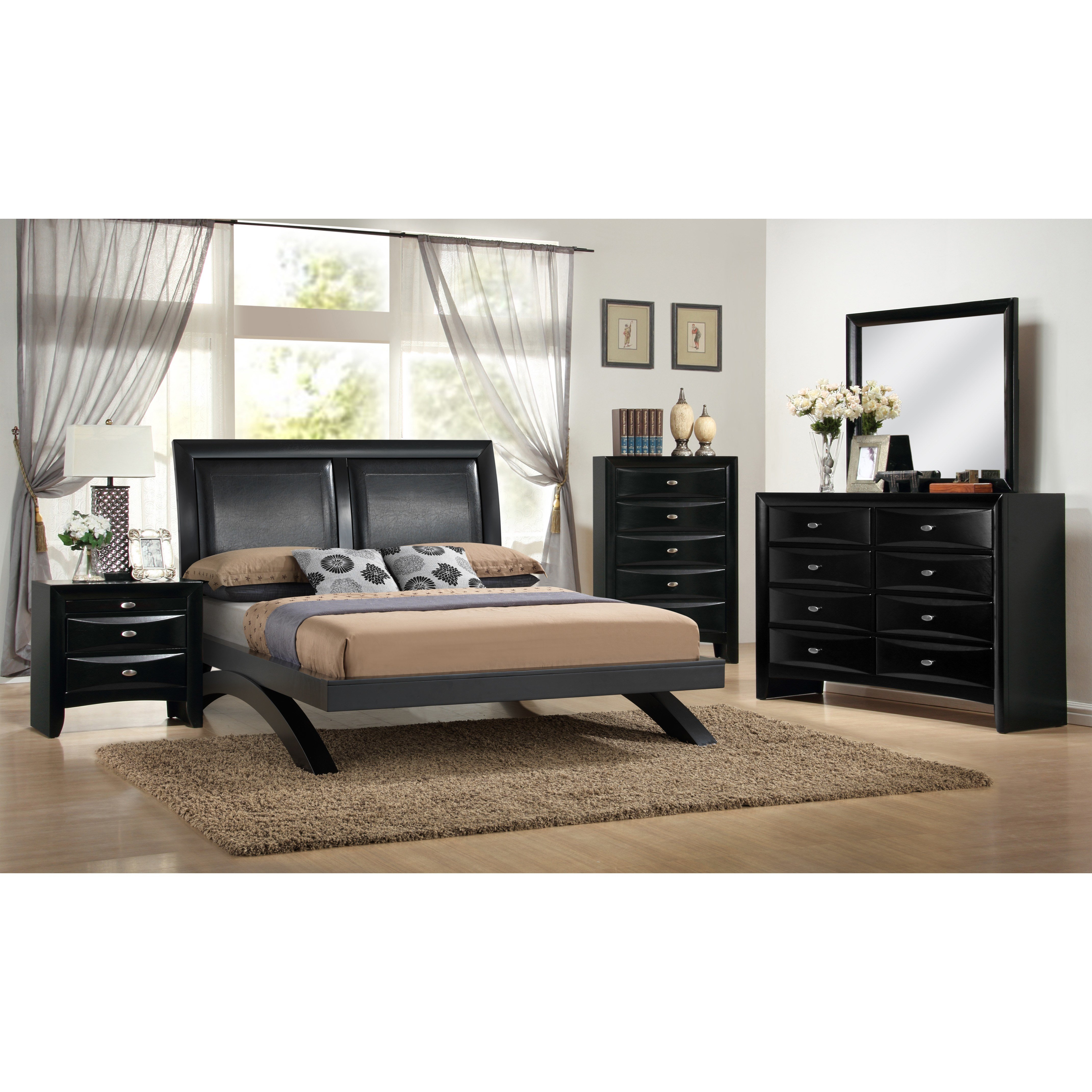 Best Roundhill Furniture Blemerey 5 Piece Platform Bedroom Set With Pictures