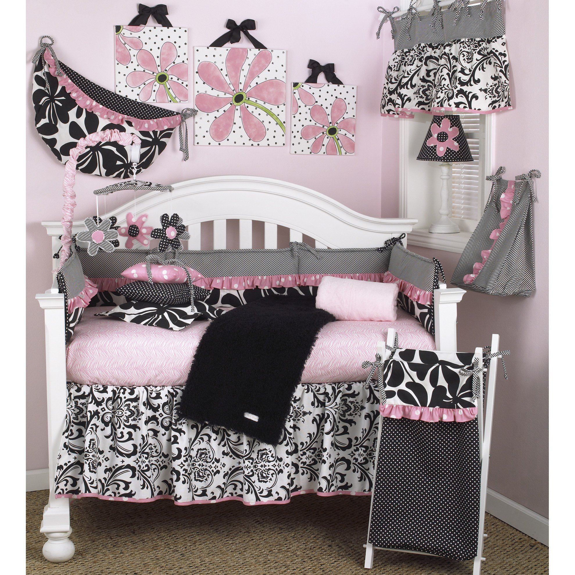Best Cotton Tale Girly 8 Piece Crib Bedding Set Wayfair With Pictures