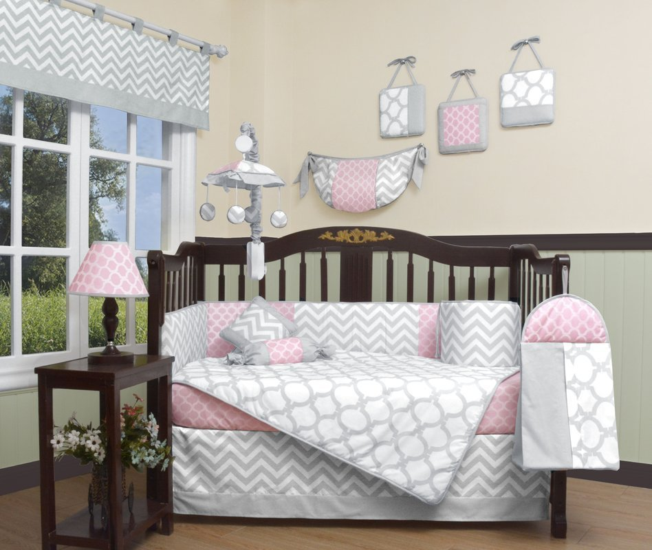 Best Geenny Chevron 13 Piece Crib Bedding Set Reviews Wayfair With Pictures