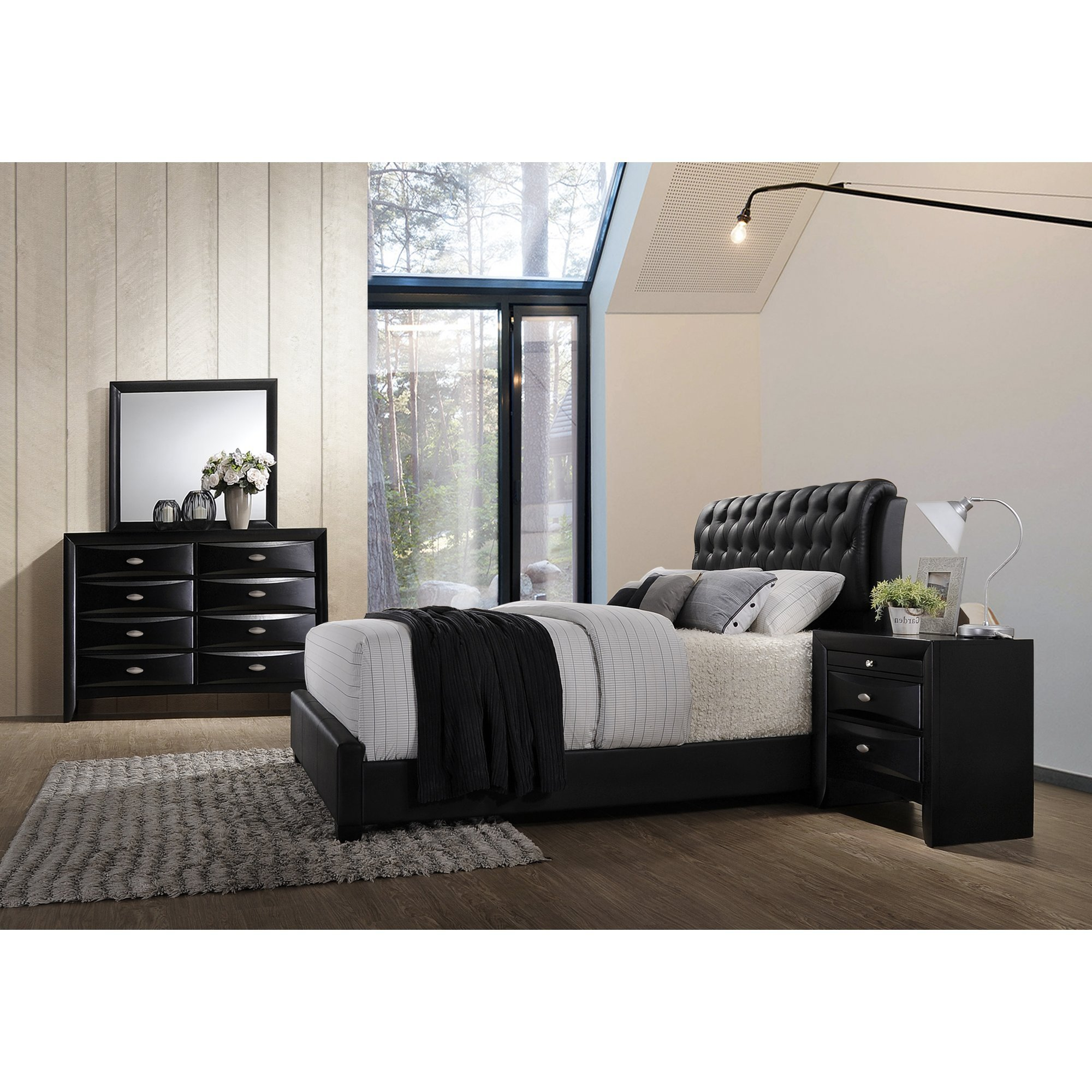 Best Roundhill Furniture Blemerey 4 Piece Bedroom Set Wayfair With Pictures