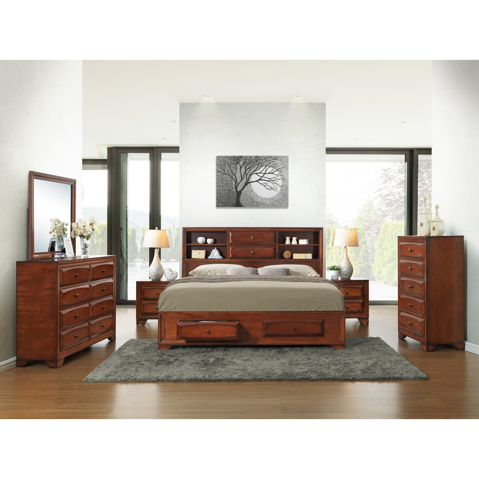 Best Roundhill Furniture Asger King Platform Customizable Bedroom Set Wayfair With Pictures