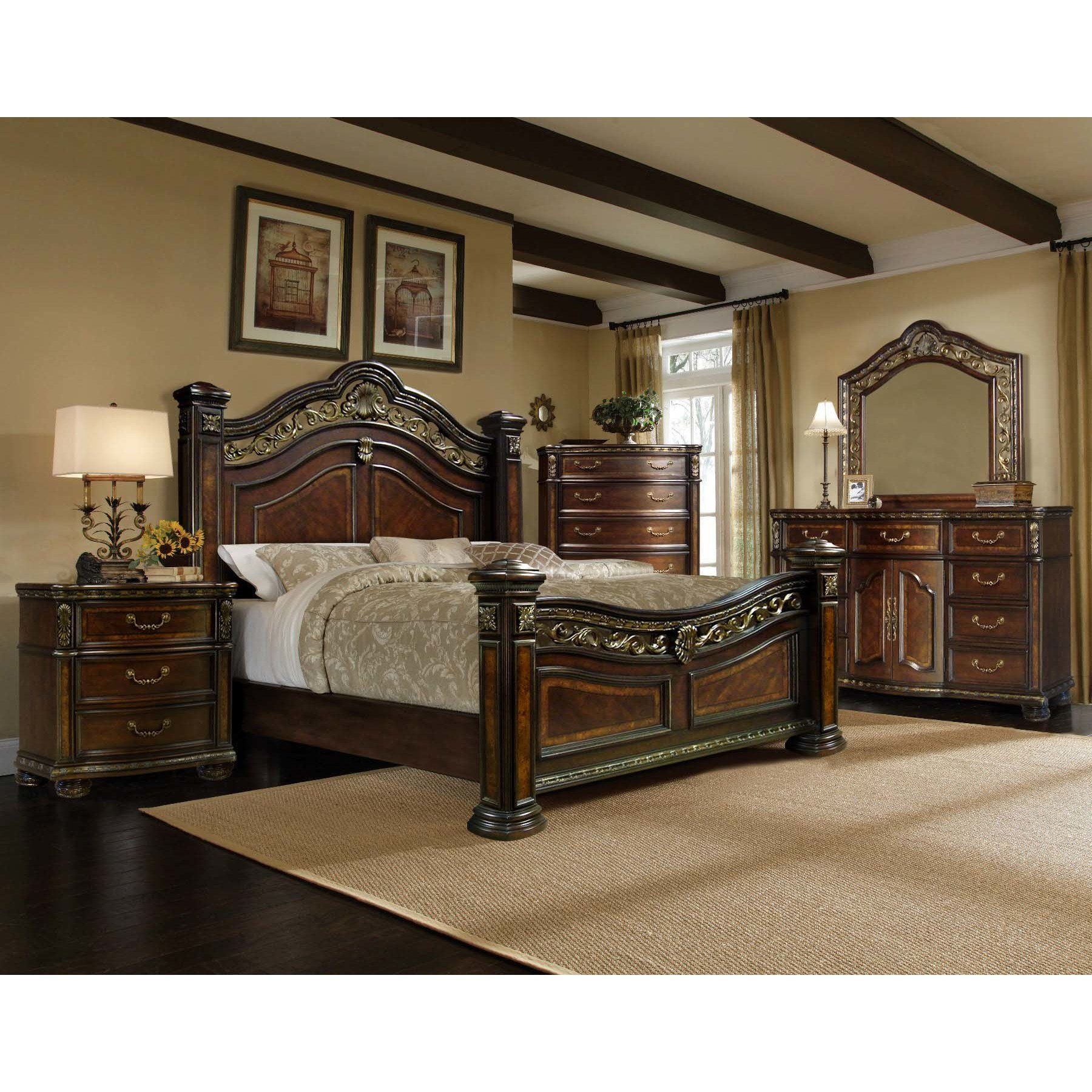 Best Ultimate Accents Old World 5 Pc Bedroom Set Wayfair Ca With Pictures