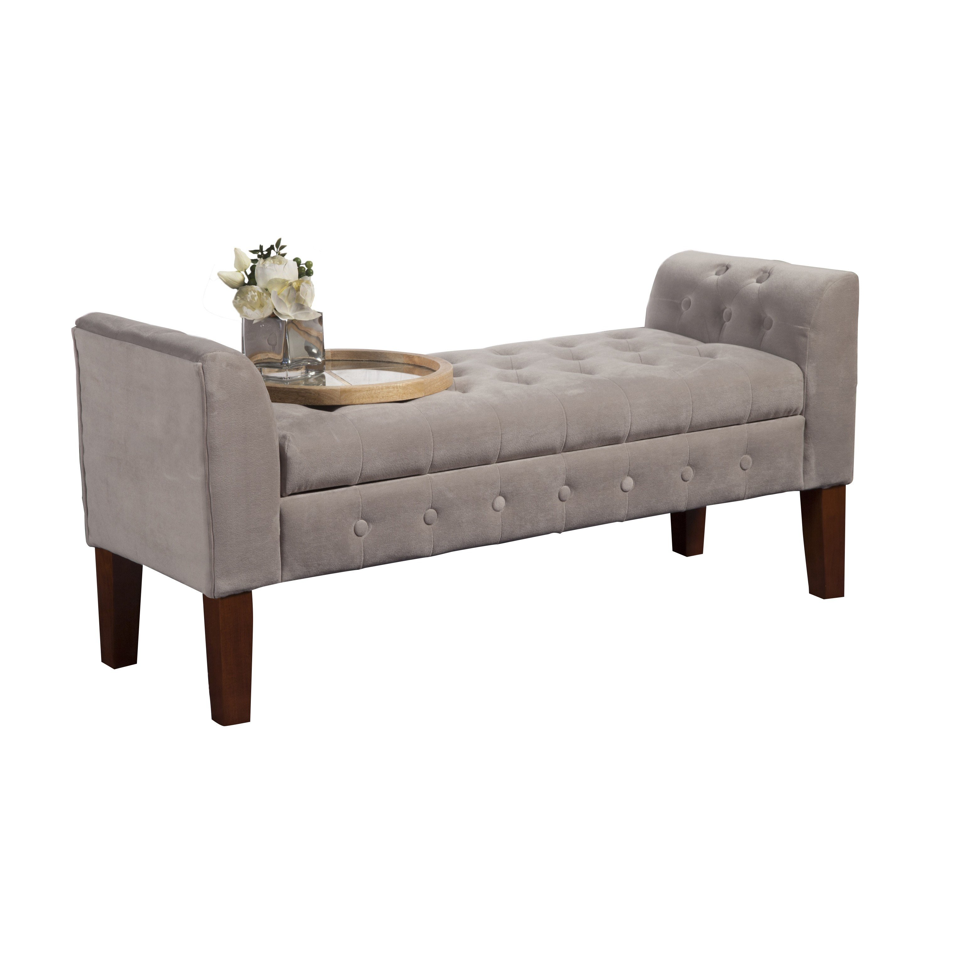 Best Three Posts Wilford Upholstered Storage Bedroom Bench With Pictures
