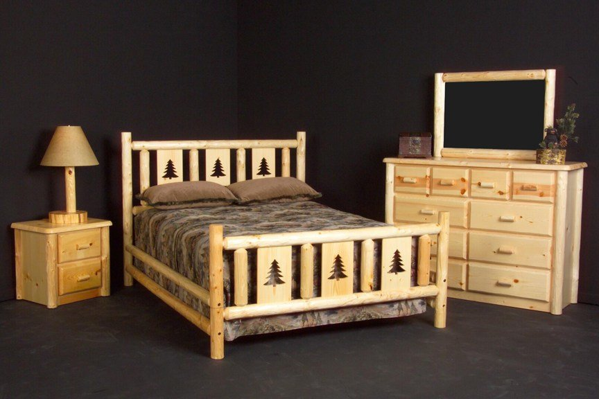 Best Rustic Cabin Montana Conventional Pine Log Headboard Queen With Pictures