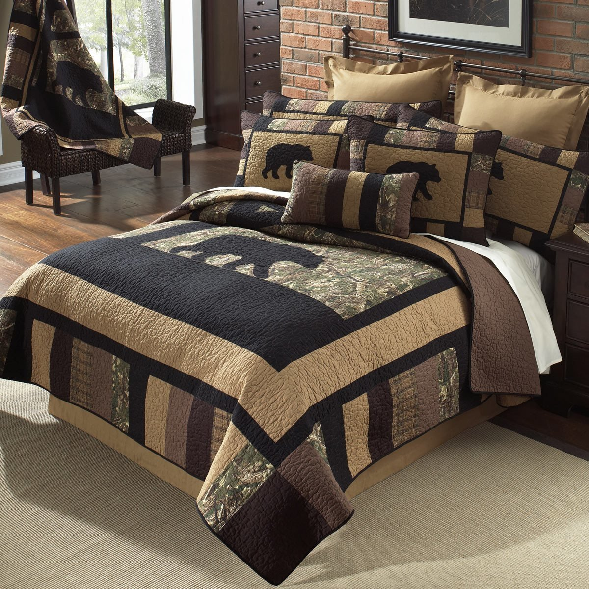 Best Camo Bear Quilt Bedding Collection With Pictures