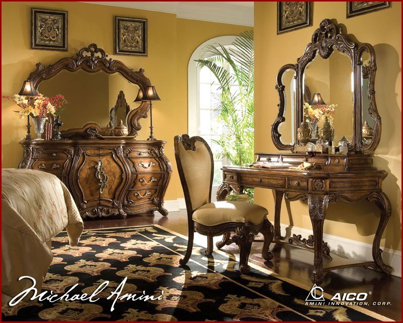 Best Aico Bedroom Set Palais Royale In Rococo Cognac Ai 710 35 With Pictures
