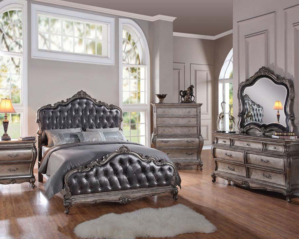 Best Classic Style Bedroom Set Chantelle By Acme Furniture With Pictures