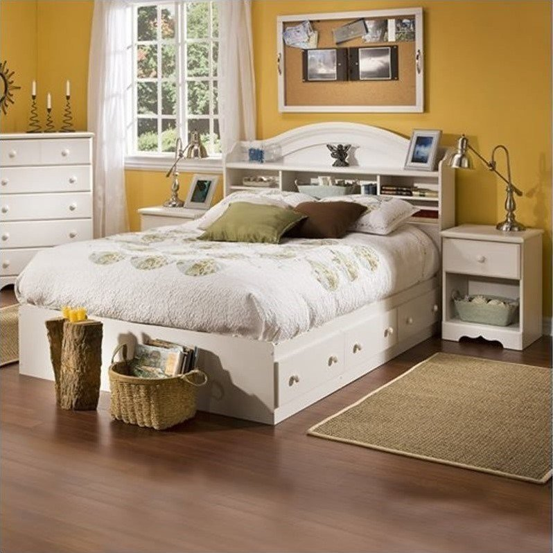 Best South Shore Summer Breeze Kids Full Wood Bookcase Bed 3 With Pictures