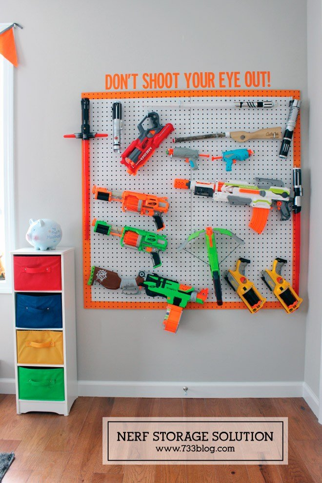 Best Ready Aim Tidy 8 Ways To Store Nerf Guns Mum S Grapevine With Pictures