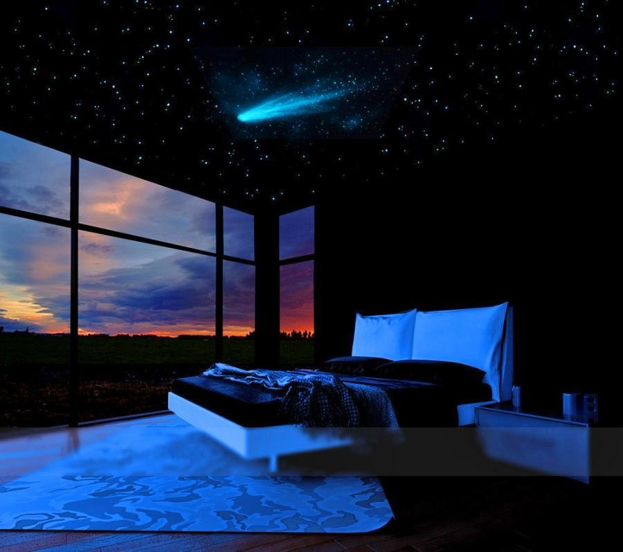 Best Comet And Stars Glow In The Dark Ceiling Mural With Pictures