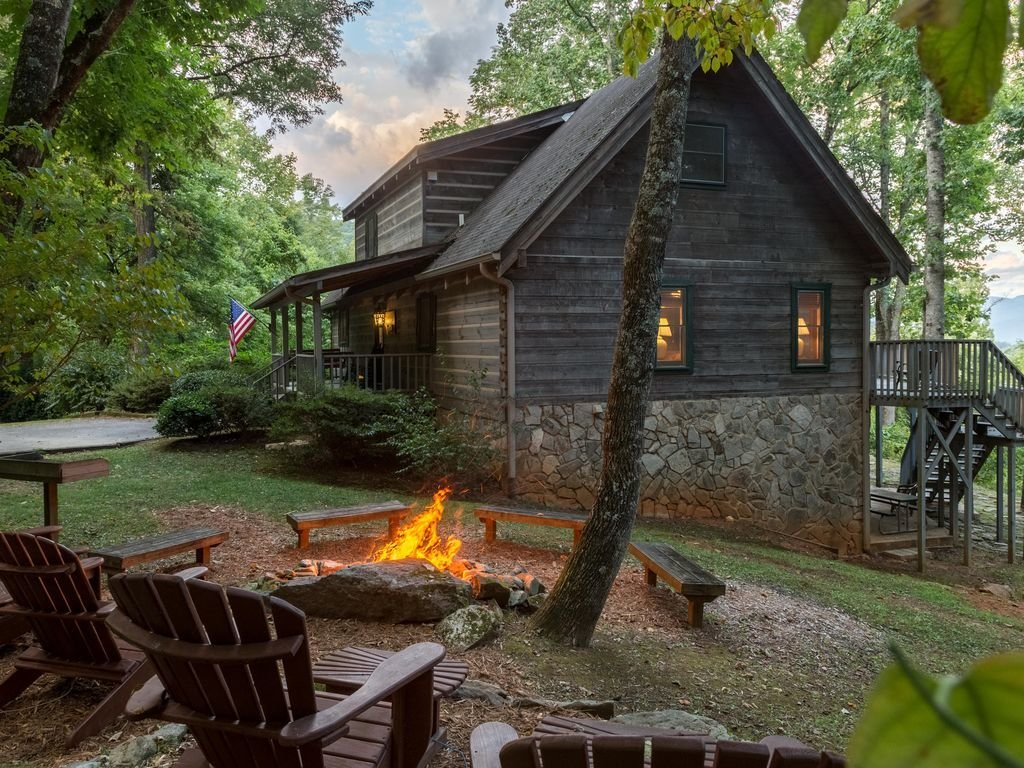 Best 4 Bedroom Log Cabin W Pool Table Views Fire Pit And Wi With Pictures